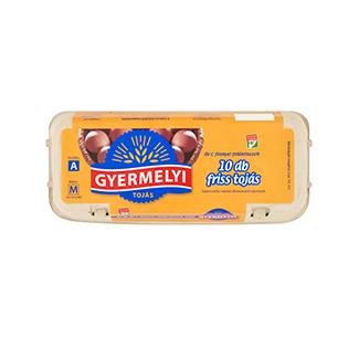 Gyermelyi vajcia dezinfikované 10 sk box