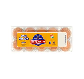 Gyermelyi vajcia 10 sk box