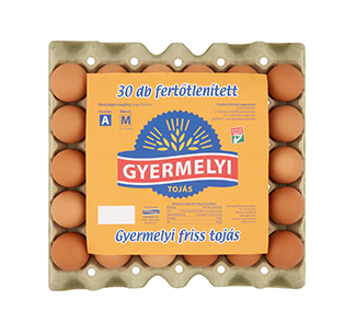 Gyermelyi vajcia dezinfikované 30 sk box