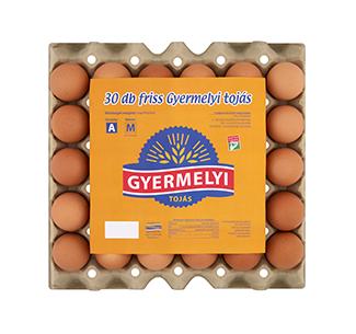 Gyermelyi vajcia 30 sk box